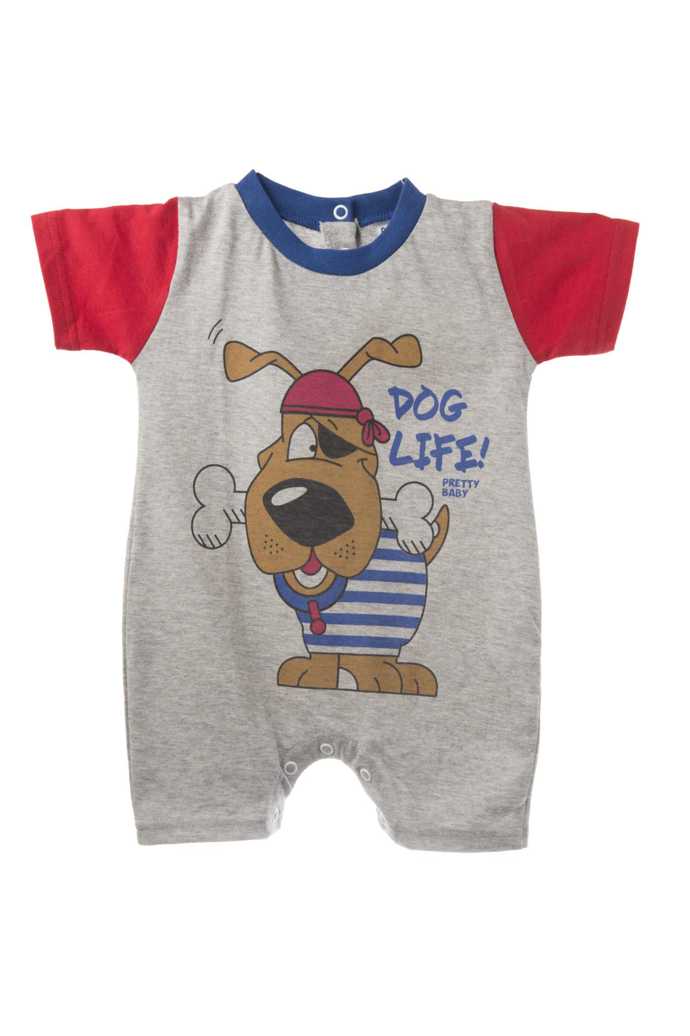 Καλοκαιρινό φορμάκι με σχέδιο σκυλάκι πειρατή - 100% βαμβακερό - Baby 03 eb843a0709f