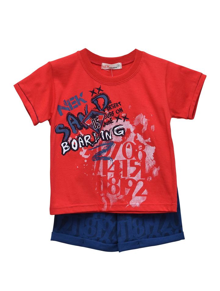 049d8cc5eefa Σετ με ρούχα με μπλούζα κοντομάνικη και σορτσάκι για αγόρι - Baby 03