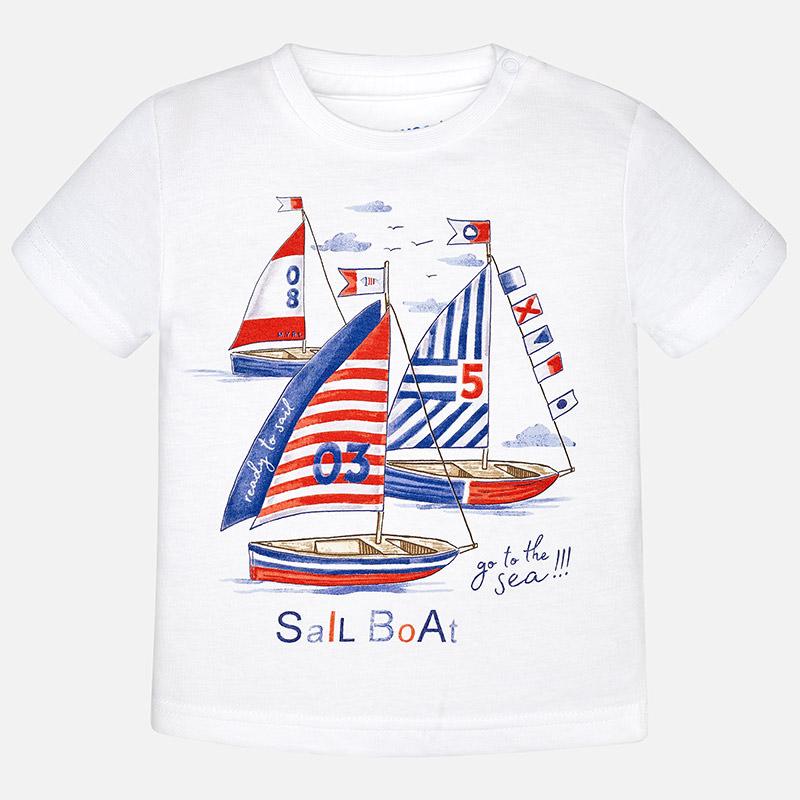Κοντομάνικη μπλούζα Mayoral με καραβάκια - Baby 03 094167da5c4