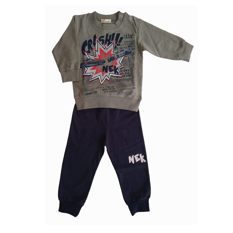 Χειμωνιάτικο σετ ρούχων για αγόρι σε γκρι-μπλε - Baby 03 9fafb2582e1