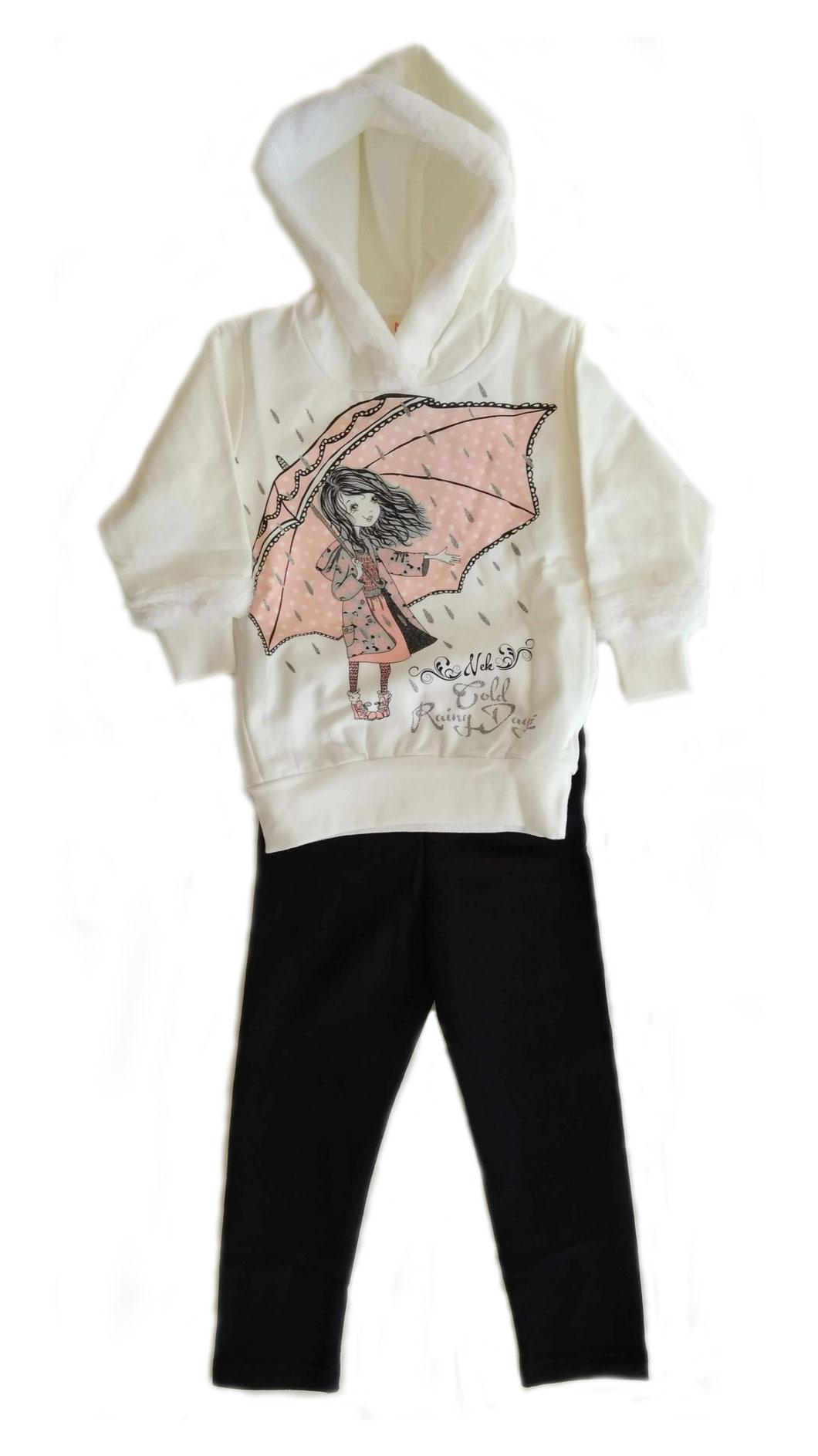 7edf5b8c6058 Χειμωνιάτικο σετ ρούχων για κορίτσι με κουκούλα και γουνάκι - Baby 03