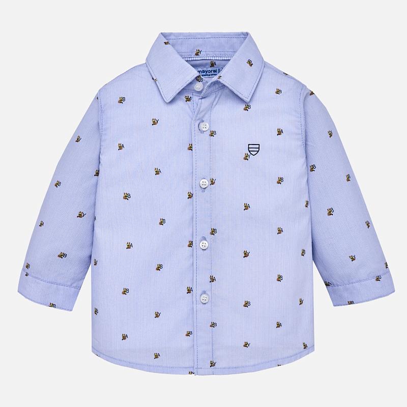 Γαλάζιο μακρυμάνικο πουκάμισο για αγοράκι - Baby 03 40f67897585