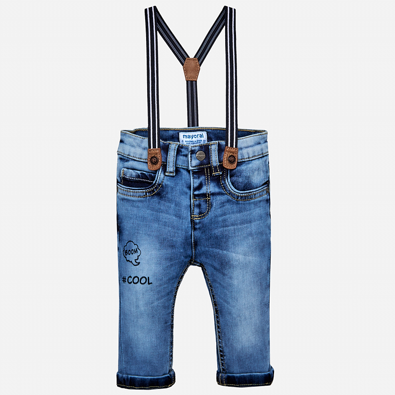 3ad529dddae8 Μακρύ τζιν παντελόνι Mayoral slim fit με τιράντες - Baby 03