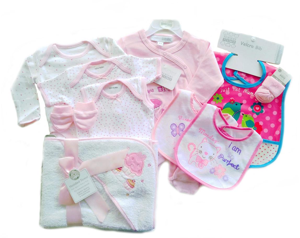 9c1033531e8 Βρεφικό σετ δώρου 11 τεμαχίων για κοριτσάκι - Baby 03