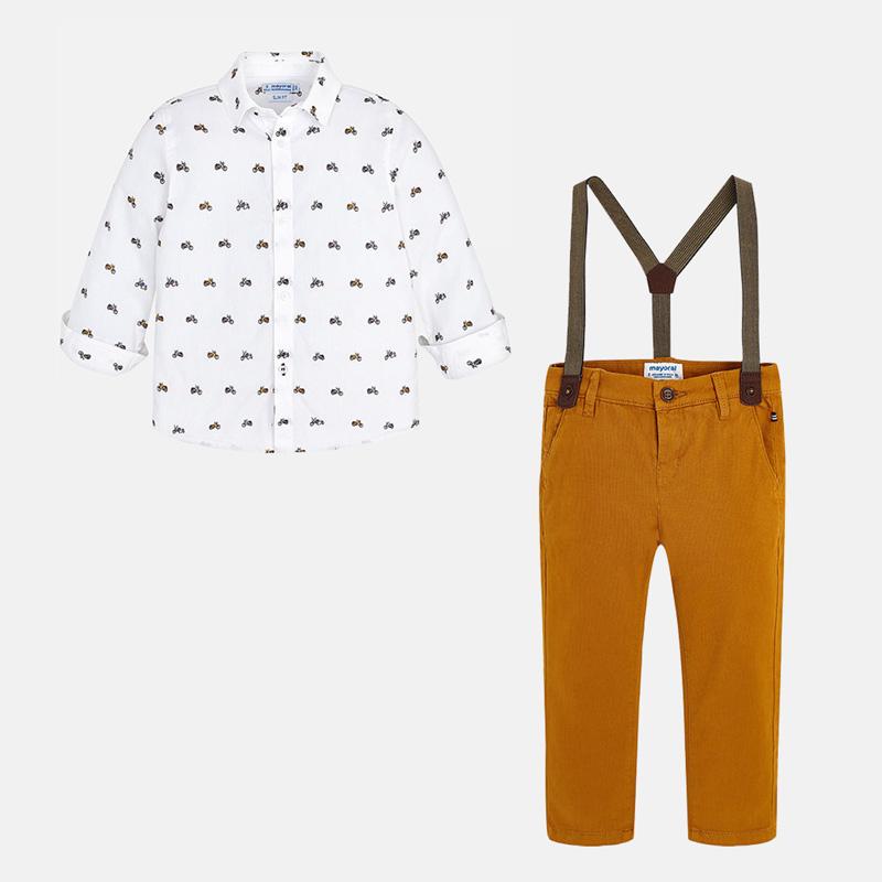 4b865f238fd6 Σετ ρούχων Mayoral σε γραμμή slim fit με πουκάμισο και παντελόνι με ...