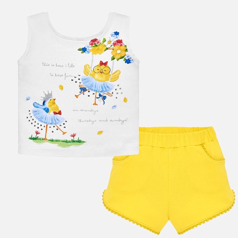 4fbb7790713 Σετ Mayoral με βρεφικά ρούχα για νεογέννητο κορίτσι σε χρώμα κίτρινο ...