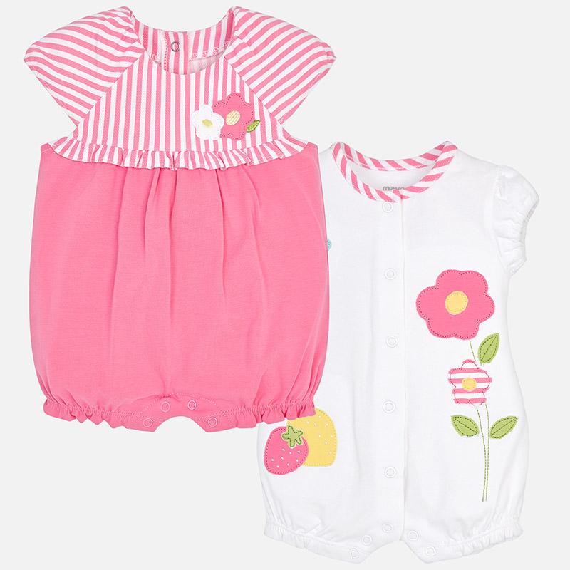 914a6057817 Πυτζάμες φορμάκια Mayoral κοντά σετ των δυο με σχέδιο λουλούδια για ...