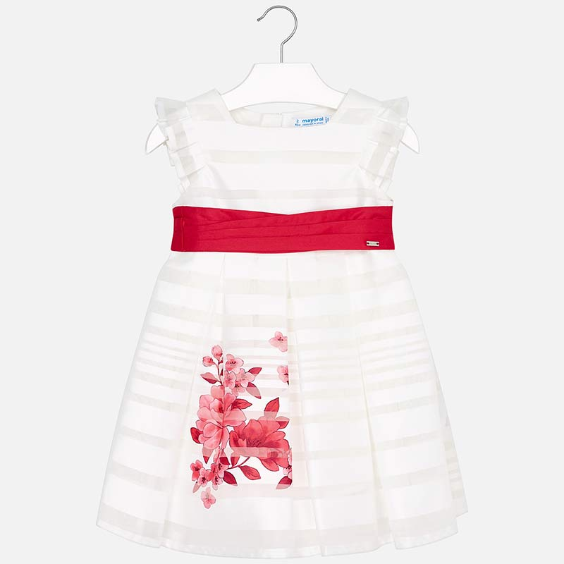 314495778c4 Φόρεμα Mayoral ριγέ με ζώνη και σχέδιο λουλούδια για κορίτσι - Baby 03